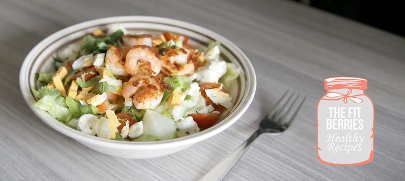 Lunch: Salade Croquante de Coriandre Fraîche et ScampisPoêlés